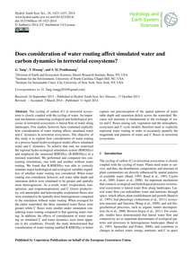 Does Consideration of Water Routing Affe... by Tang, G.