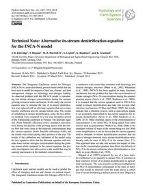 Technical Note: Alternative In-stream De... by Etheridge, J. R.