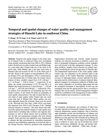 Temporal and Spatial Changes of Water Qu... by Zhang, T.