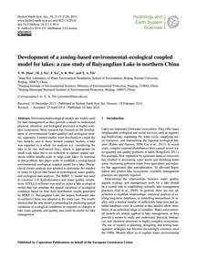 Development of a Zoning-based Environmen... by Zhao, Y. W.
