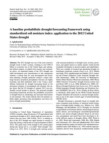 A Baseline Probabilistic Drought Forecas... by Aghakouchak, A.