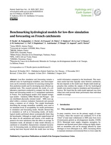Benchmarking Hydrological Models for Low... by Nicolle, P.
