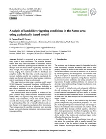 Analysis of Landslide Triggering Conditi... by Capparelli, G.