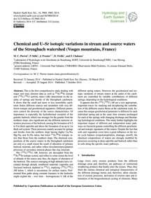 Chemical and U–sr Isotopic Variations in... by Pierret, M. C.