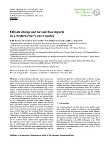 Climate Change and Wetland Loss Impacts ... by Records, R. M.