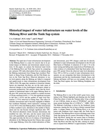 Historical Impact of Water Infrastructur... by Cochrane, T. A.
