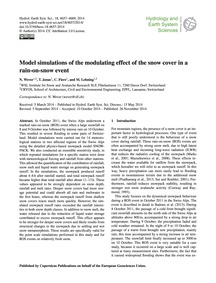 Model Simulations of the Modulating Effe... by Wever, N.
