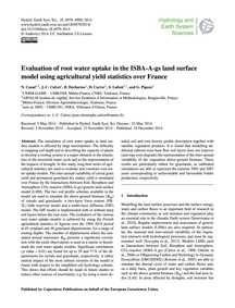 Evaluation of Root Water Uptake in the I... by Canal, N.