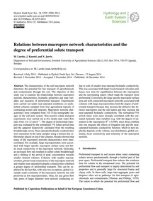 Relations Between MacRopore Network Char... by Larsbo, M.
