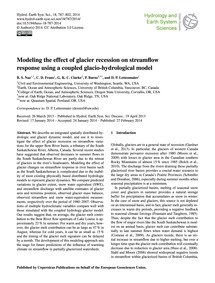 Modeling the Effect of Glacier Recession... by Naz, B. S.