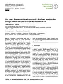 Bias Correction Can Modify Climate Model... by Maurer, E. P.