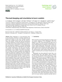 Thermal Damping and Retardation in Karst... by Luhmann, A. J.