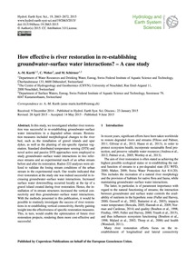 How Effective is River Restoration in Re... by Kurth, A.-m.