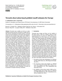 Towards Observation-based Gridded Runoff... by Gudmundsson, L.