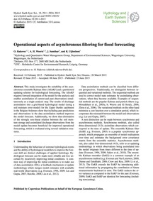 Operational Aspects of Asynchronous Filt... by Rakovec, O.