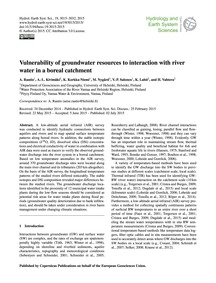 Vulnerability of Groundwater Resources t... by Rautio, A.