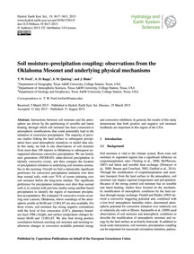 Soil Moisture–precipitation Coupling: Ob... by Ford, T. W.