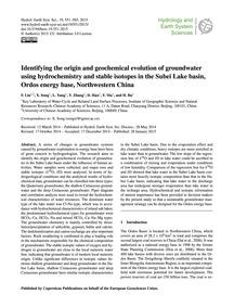 Identifying the Origin and Geochemical E... by Liu, F.