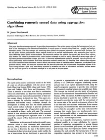 Combining Remotely Sensed Data Using Agg... by Shuttleworth, W. J.