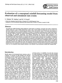 Evaluation of a Conceptual Rainfall Fore... by Dolciné, L.