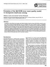 Extension of the Quasar River Water Qual... by Lees, M. J.