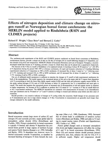 Effects of Nitrogen Deposition and Clima... by Wright, R. F.
