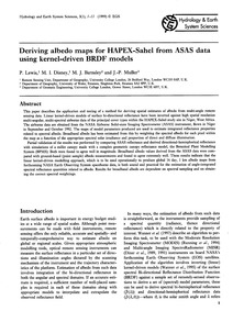 Deriving Albedo Maps for Hapex-sahel fro... by Lewis, P.