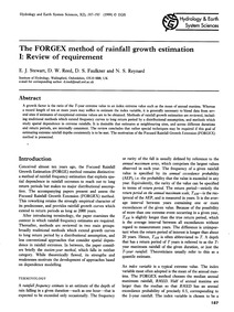 The Forgex Method of Rainfall Growth Est... by Stewart, E. J.