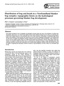 Distribution of Bog and Heath in a Newfo... by Graniero, P. A.