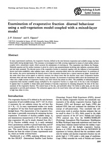 Examination of Evaporative Fraction Diur... by Lhomme, J.-p.