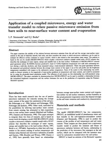 Application of a Coupled Microwave, Ener... by Simmonds, L. P.