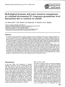 Hydrological Processes and Water Resourc... by Butterworth, J. A.