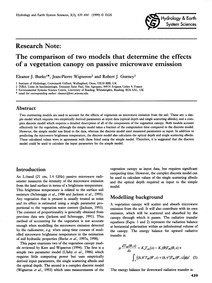 Research Note:the Comparison of Two Mode... by Burke, E. J.