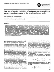 The Role of Spatial Variability of Soil ... by Bronstert, A.