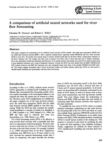 A Comparison of Artificial Neural Networ... by Dawson, C. W.