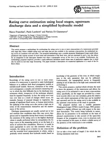 Rating Curve Estimation Using Local Stag... by Franchini, M.