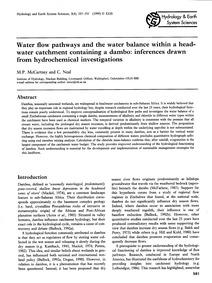 Water Flow Pathways and the Water Balanc... by McCartney, M. P.