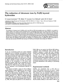 The Reduction of Chromate Ions by Fe(II)... by Loyaux-lawniczak, S.