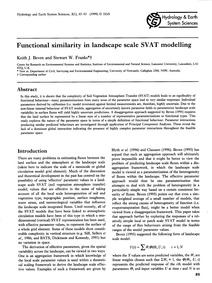Functional Similarity in Landscape Scale... by Beven, K. J.