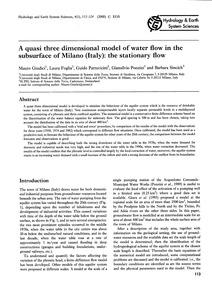 A Quasi Three Dimensional Model of Water... by Giudici, M.