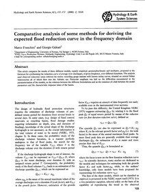Comparative Analysis of Some Methods for... by Franchini, M.