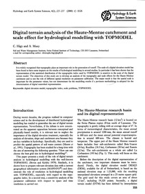 Digital Terrain Analysis of the Haute-me... by Higy, C.
