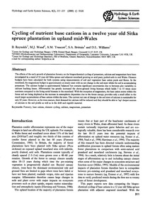 Cycling of Nutrient Base Cations in a Tw... by Reynolds, B.