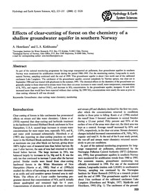 Effects of Clear-cutting of Forest on th... by Henriksen, A.