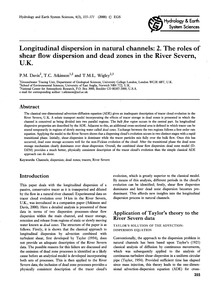 Longitudinal Dispersion in Natural Chann... by Davis, P. M.