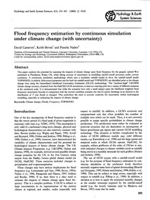 Flood Frequency Estimation by Continuous... by Cameron, D.