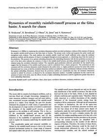 Dynamics of Monthly Rainfall-runoff Proc... by Sivakumar, B.