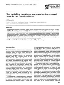 Flow Modelling to Estimate Suspended Sed... by Fassnacht, S. R.