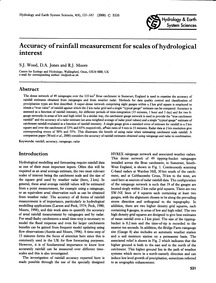 Accuracy of Rainfall Measurement for Sca... by Wood, S. J.