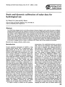 Static and Dynamic Calibration of Radar ... by Wood, S. J.